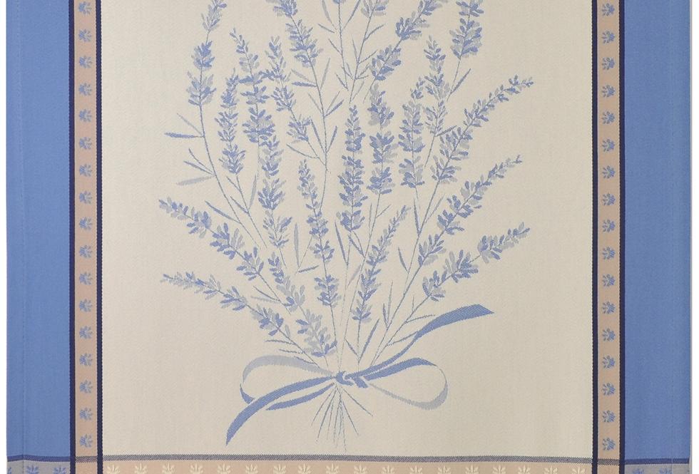 Ecru/Blue Grignan Jacquard Woven Kitchen Towel