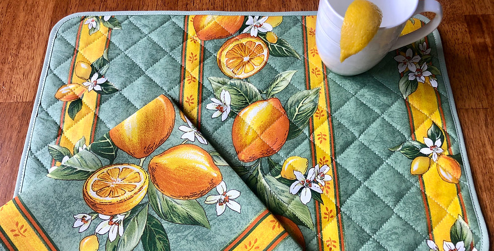 Green Citron Coated Cotton Placemat