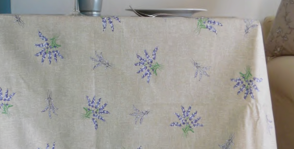 French Tablecloth Coated All Over Beige Valensole