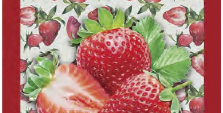 Strawberries Printed Cotton Kitchen Towel
