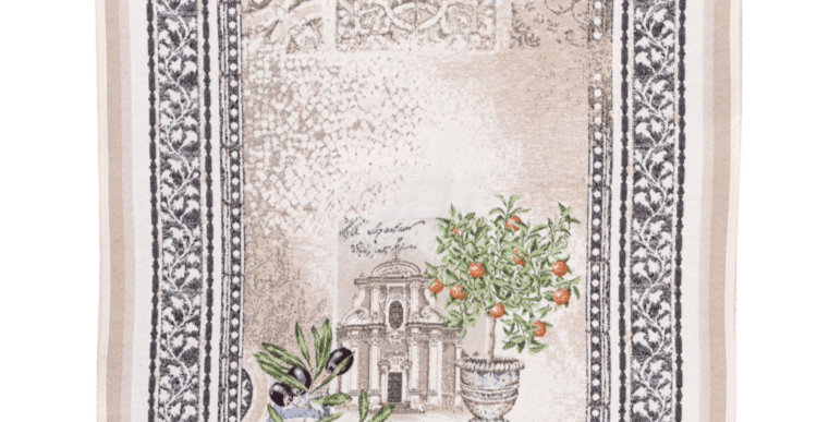 French Table Runner Jacquard Tapestry Riviera
