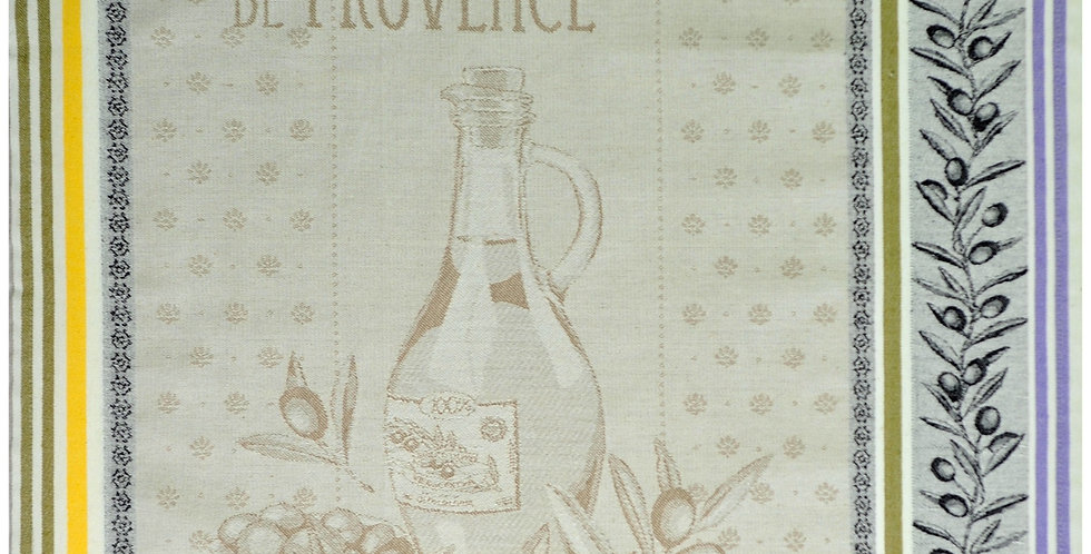 Provence Olive Oil Jacquard Kitchen Towel