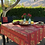 Thumbnail: French Tablecloth Coated Striped Red Clos des Oliviers
