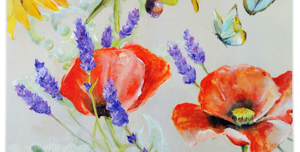 Poppies & Lavender Laminated Placemat