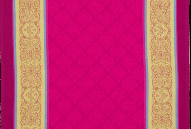 Fuchsia Renaissance Jacquard Woven Kitchen Towel