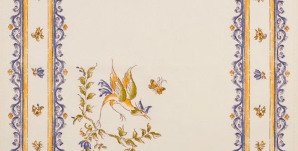 Blue Moustiers Printed Cotton Napkin