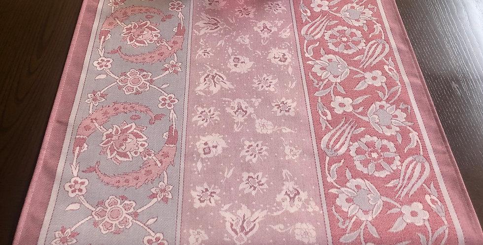 Rose Porcelain Jacquard Woven Table Runner