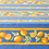 """Thumbnail: French Tablecloth Coated 60"""" Round Striped Blue Citron"""