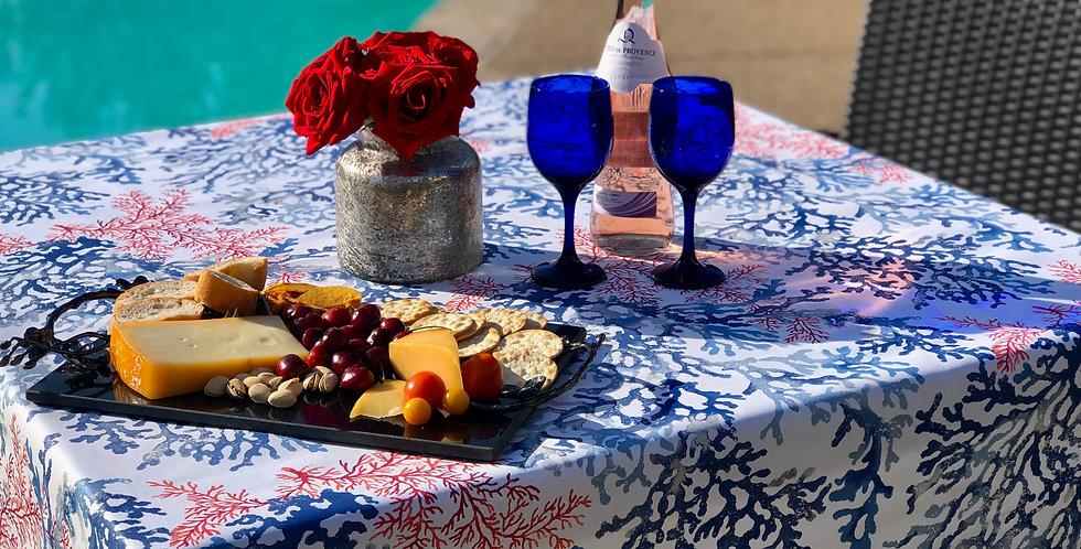 French Tablecloth Coated Marine Brisbane