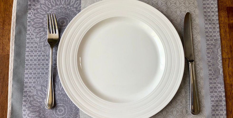 Pearl Comana Jacquard Woven Coated Placemat