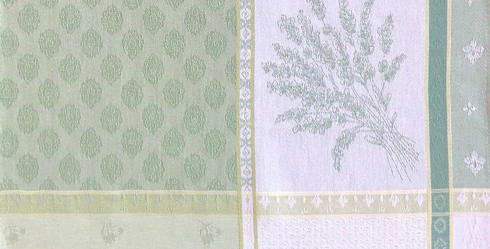French Napkin Jacquard Green Valbonne Set of 6
