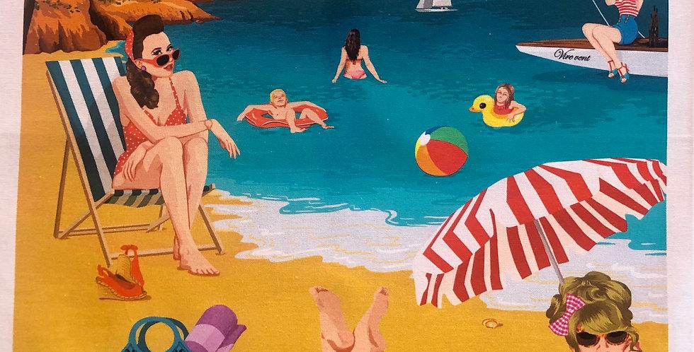 Cote D'Azur Beach Cotton Kitchen Towel