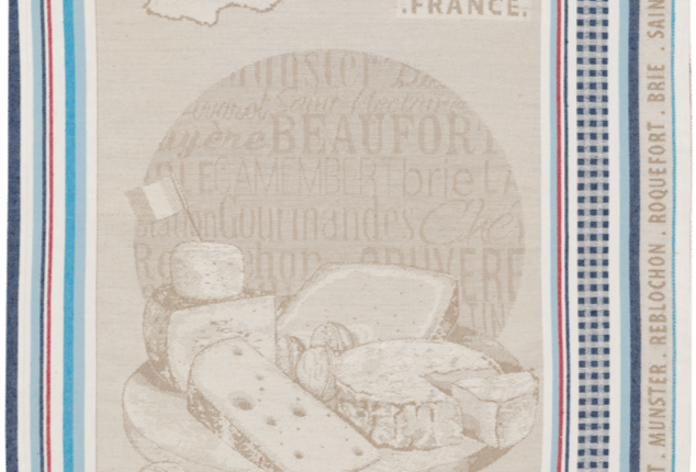 Cheeses of France Jacquard Kitchen Towel
