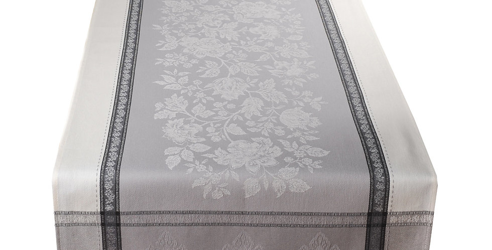 French Table Runner Jacquard Grey Caprice