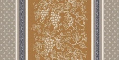 French Kitchen Towel Jacquard Cinnamon Coteau