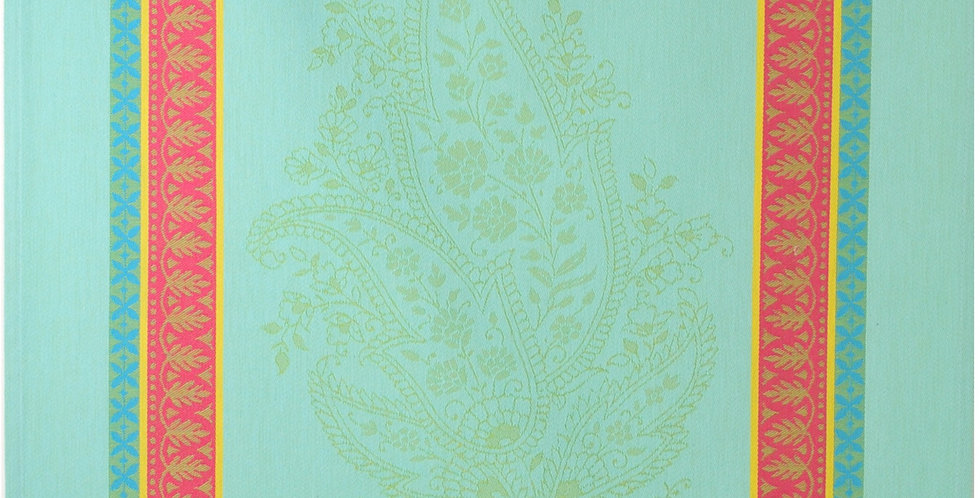 Turquoise Cassis Jacquard Woven Kitchen Towel