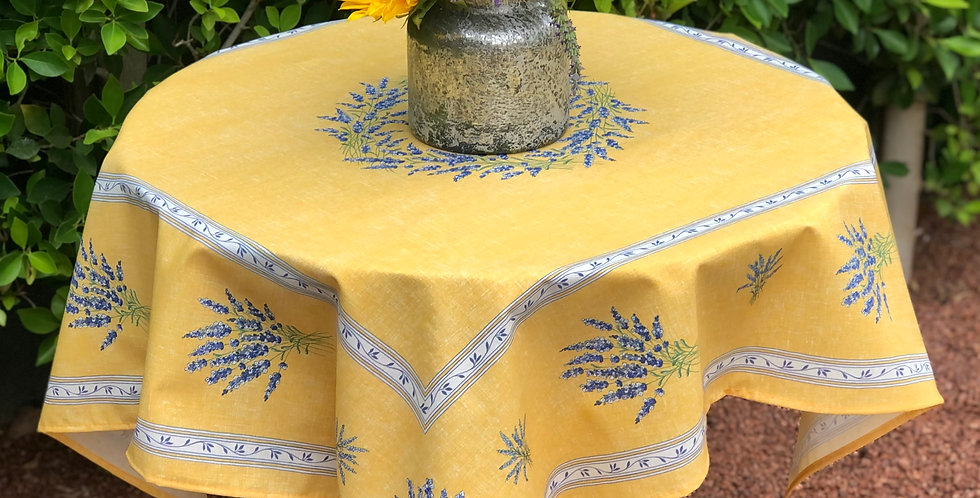French Table Topper Cotton Yellow Valensole