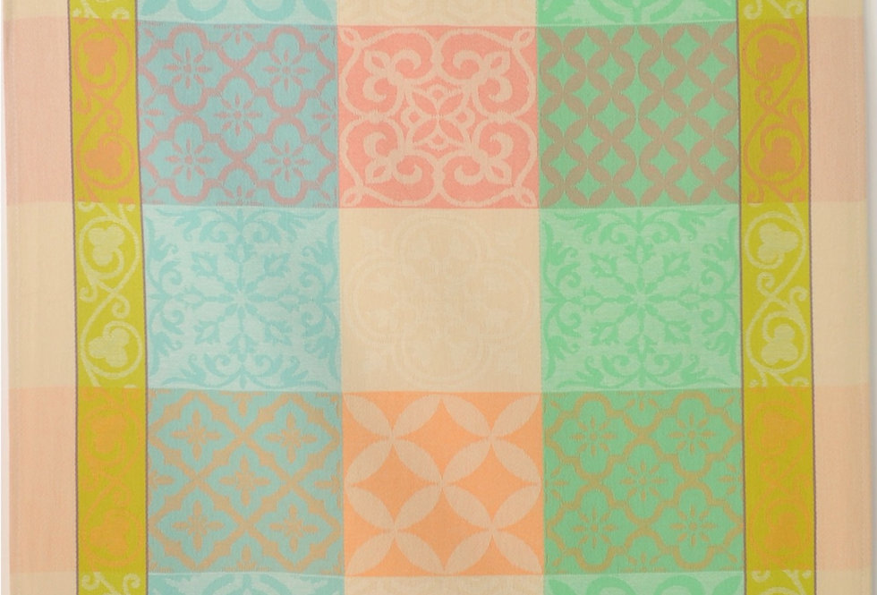 Peach/Green Reillanne Jacquard Woven Kitchen Towel