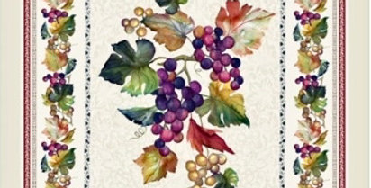 French Kitchen Towel Cotton Grapes