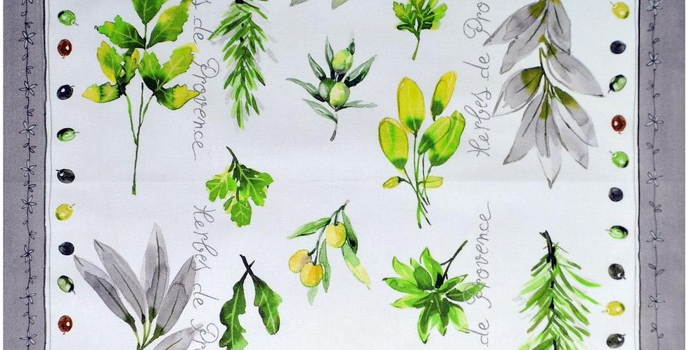 Herbs de Provence Printed Cotton Kitchen Towel