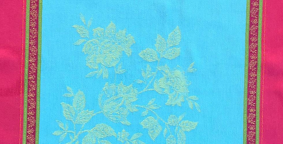 French Napkin Jacquard Turquoise Caprice