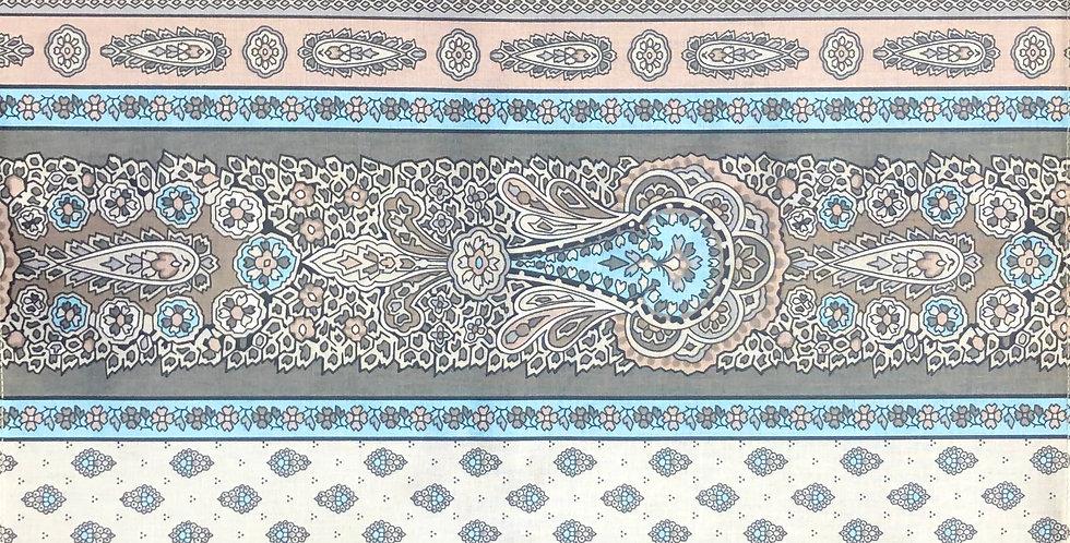 Turquoise Bastide Printed Cotton Napkin