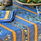 """Thumbnail: French Tablecloth Coated 60"""" Round Striped Blue Clos des Oliviers"""
