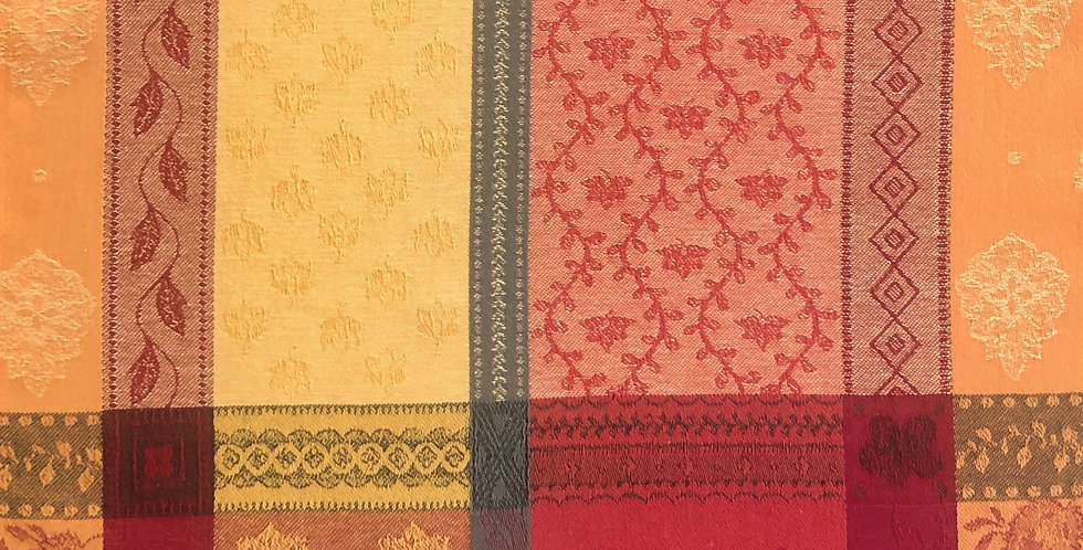 French Napkin Jacquard Red Valescure