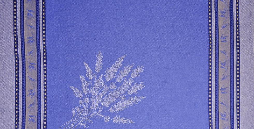 French Napkin Jacquard Ecru/Blue Senanque