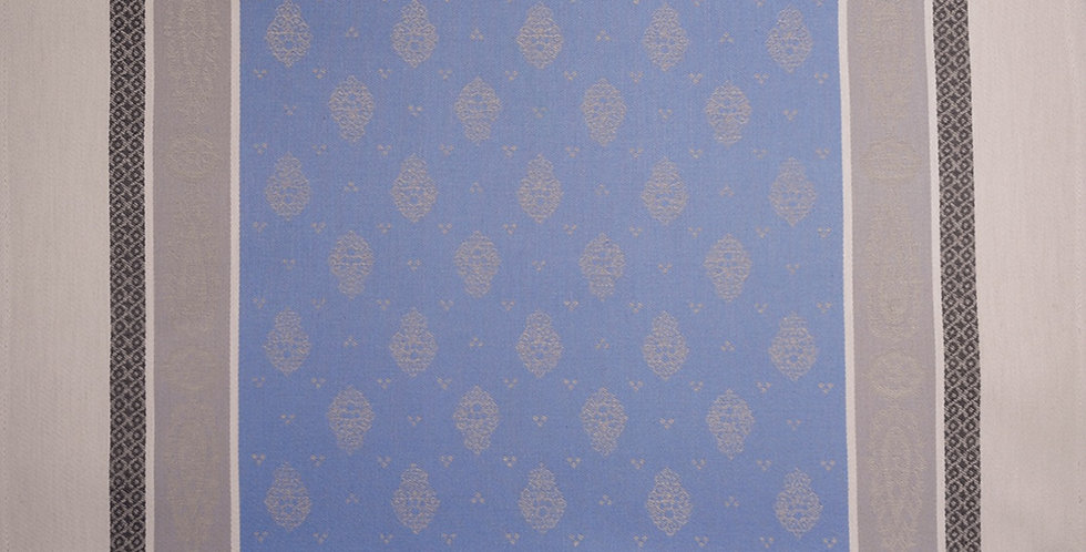 French Napkin Jacquard Blue/Beige Vaucluse