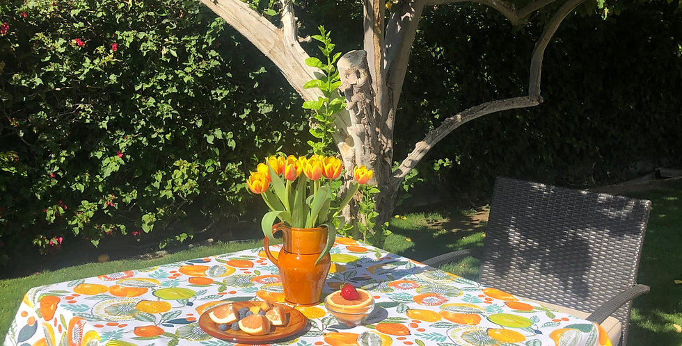French Tablecloth Coated Citrus