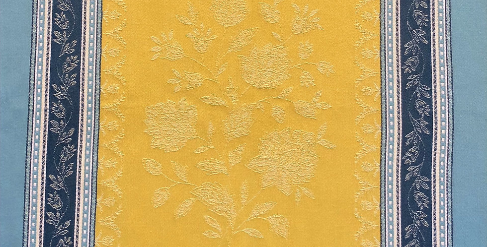 French Kitchen Towel Jacquard Lime Ramatuelle