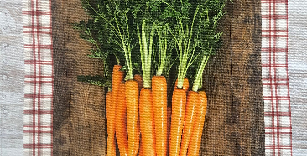 French Kitchen Towel Cotton Carrots
