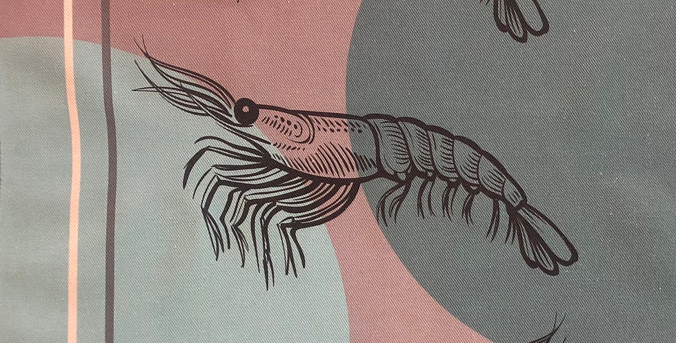Shrimp Cotton Kitchen Towel