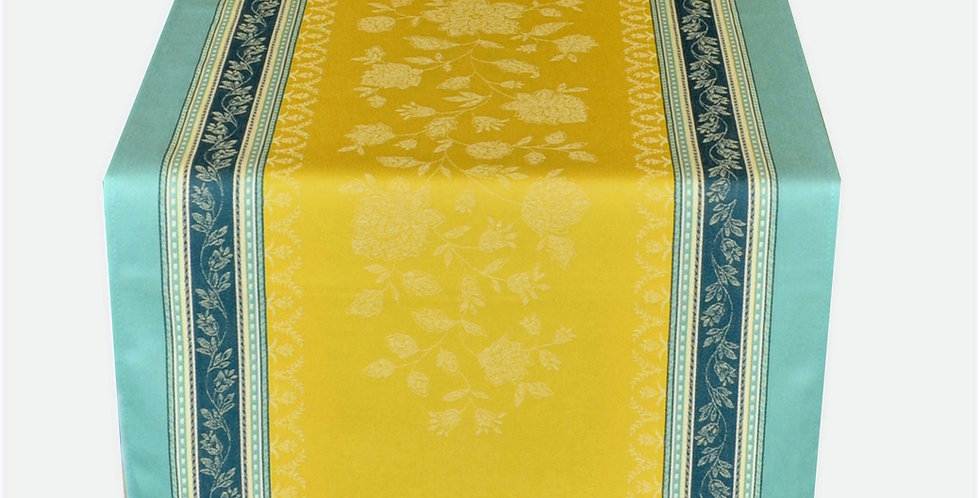 French Table Runner Jacquard Lime Ramatuelle
