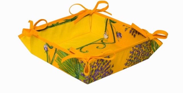 French Basket Yellow Bouquet of Lavender