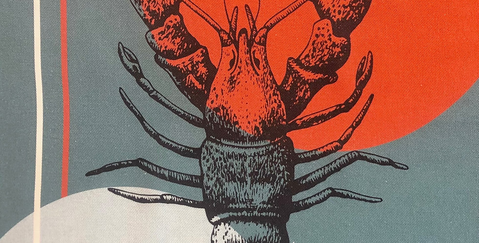 French Kitchen Towel Cotton Lobster