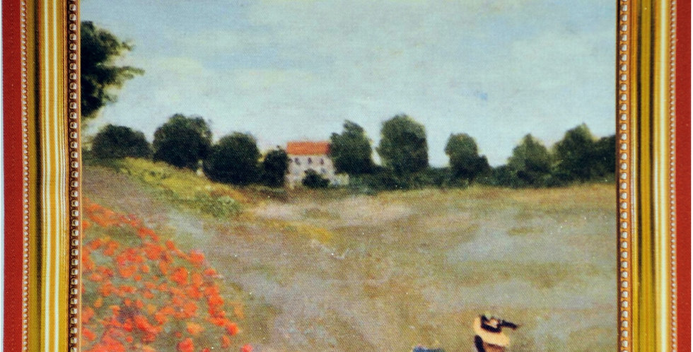 Monet Poppies Printed Cotton Kitchen Towel