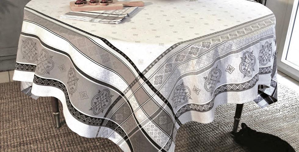 Light Grey Callas Jacquard Woven Tablecloths