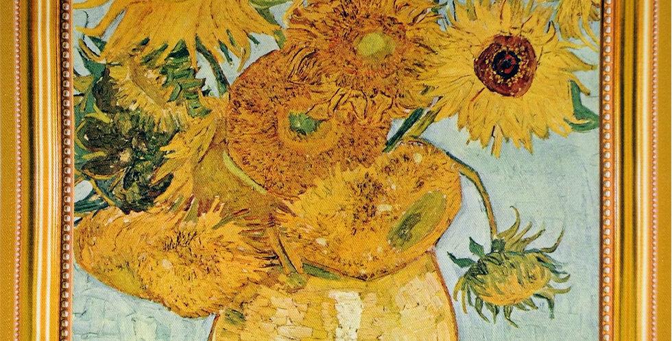 Van Gogh Sunflowers Printed Cotton Kitchen Towel