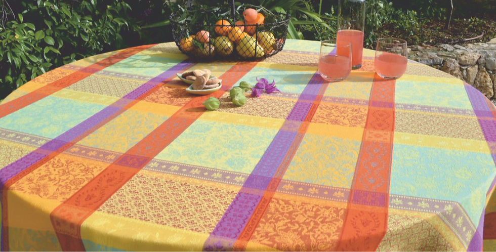 French Tablecloth Jacquard Multicolor Maussane