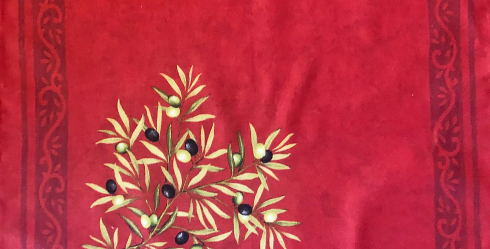 Red Clos Des Oliviers Printed Cotton Napkin