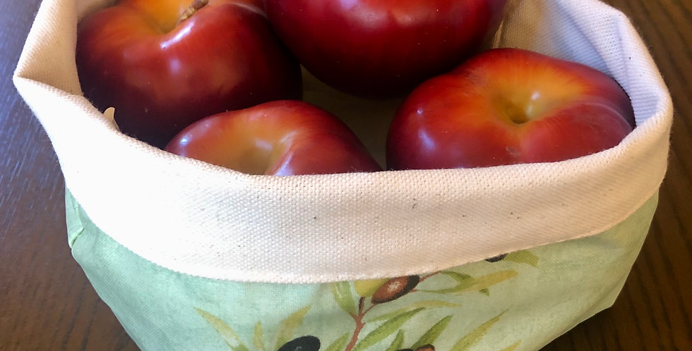 Green Olive Basket Pouch
