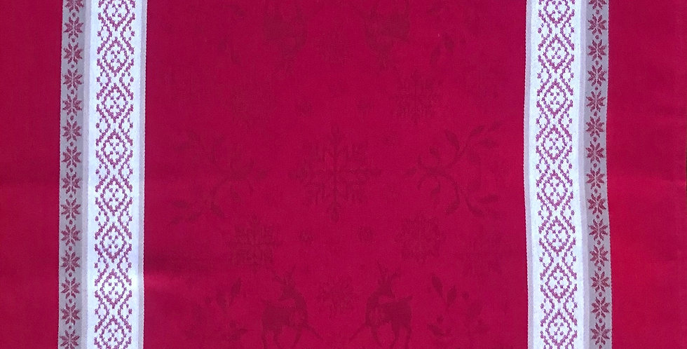 French Kitchen Towel Jacquard Red Vars