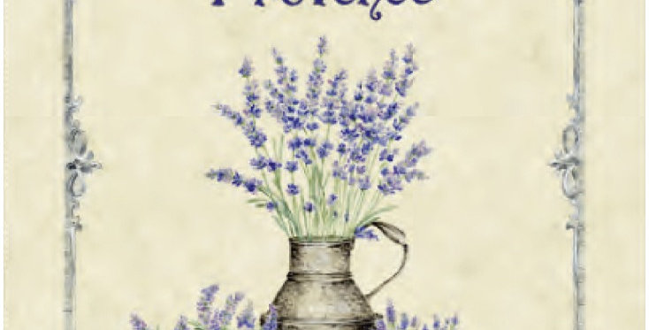 French Kitchen Towel Cotton Provence Lavender