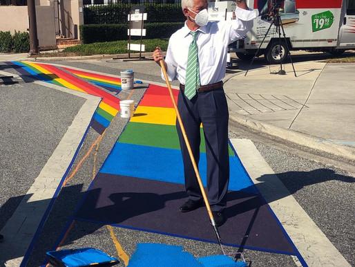 Congressman Charlie Crist Paints Pride Walk