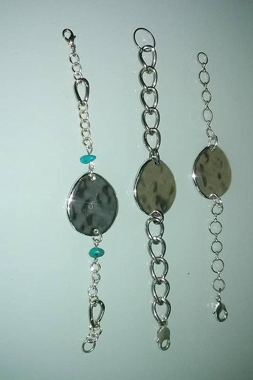 Silver Bracelet  A  B  C
