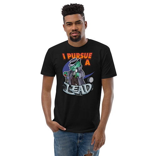 I Pursue a Lead - Teal Kobold Men's Fitted T-Shirt