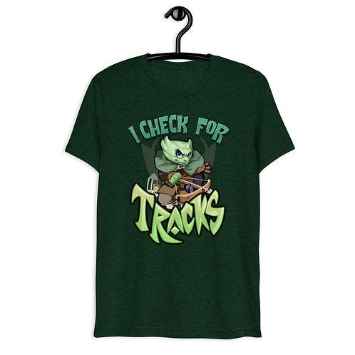 I Check For Tracks - Green Kobold Triblend T-Shirt