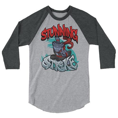 Stunning Strike - Black Kobold 3/4 Raglan Shirt